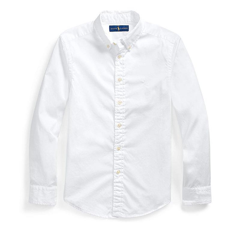 画像1: POLO RALPH LAUREN BOYS   cotton twill shirt 2color (1)