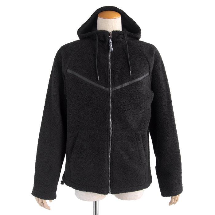 画像1: New Balance  full zip fleece hoodie jacket BK  (1)