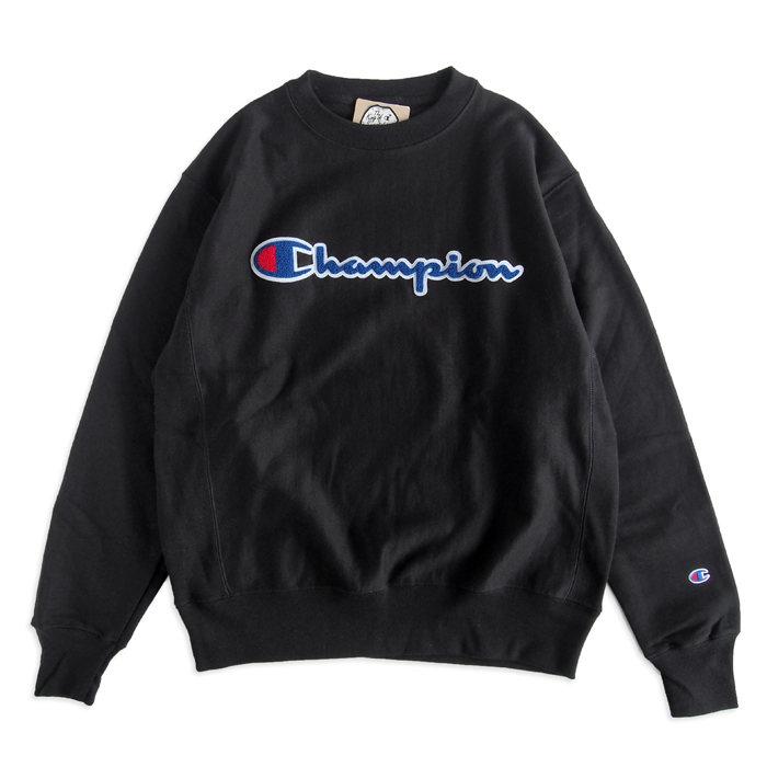 画像1: Champion  Reverse Weave Crew Logo Sweatshirt 2color (1)