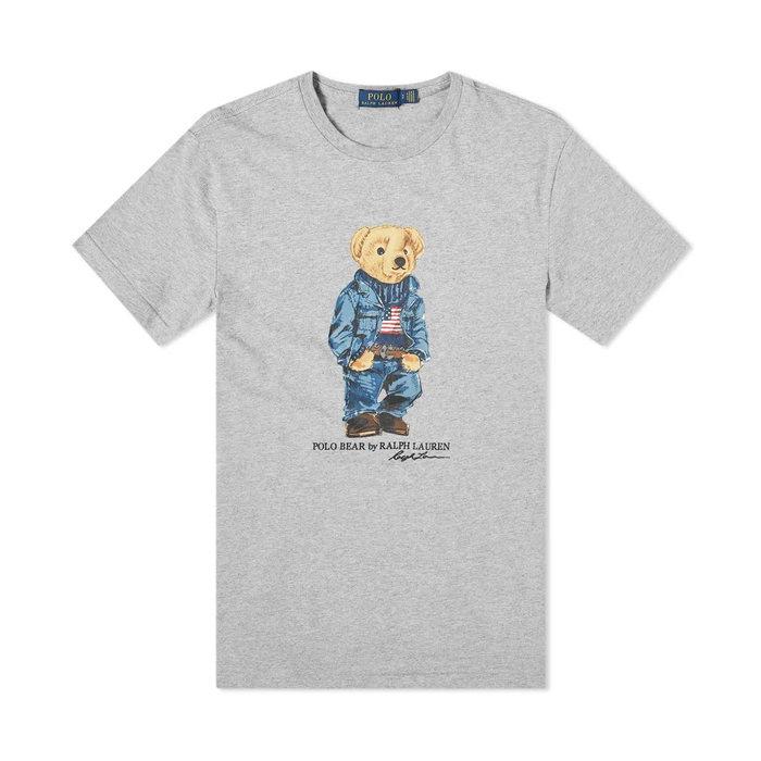 画像1: POLO RALPH LAUREN BOYS   denim bear cotton tee  (1)