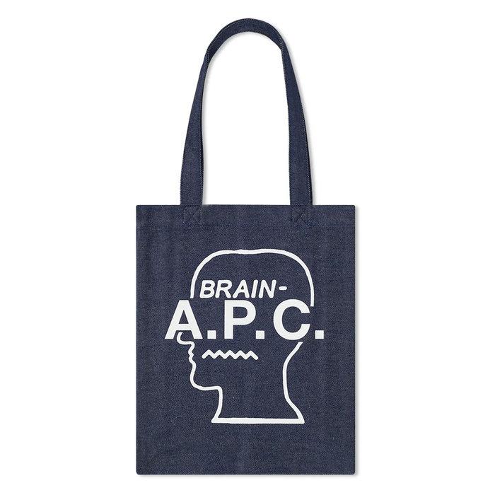 画像1: A.P.C. × BRAIN DEAD   denim tote bag (1)