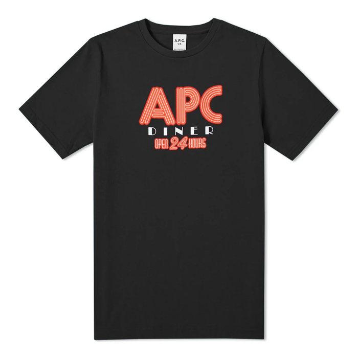 画像1: A.P.C. MENS   Taylor Logo Tee (1)