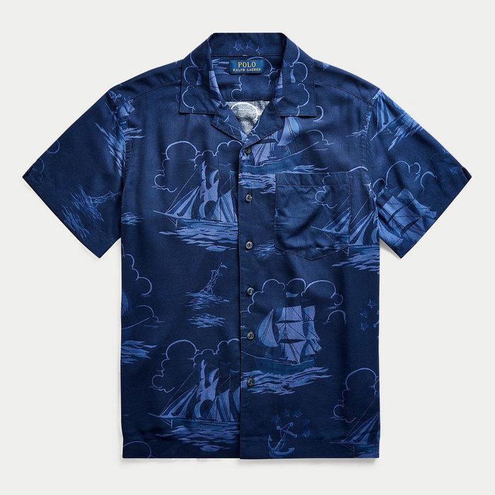 画像1: POLO RALPH LAUREN BOYS   Sailboat-Print Shirt (1)