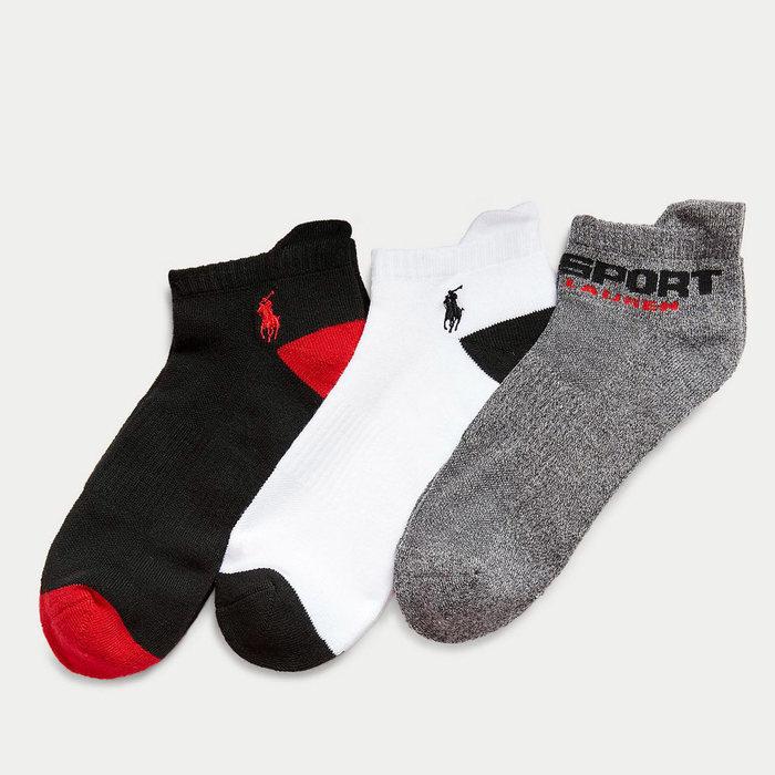 画像1: POLO RALPH LAUREN   Polo Sport Low-Cut Sock 3-Pack (1)
