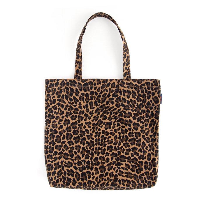 画像1: J.CREW WOMAN  reusable everyday canvas tote in leopard (1)