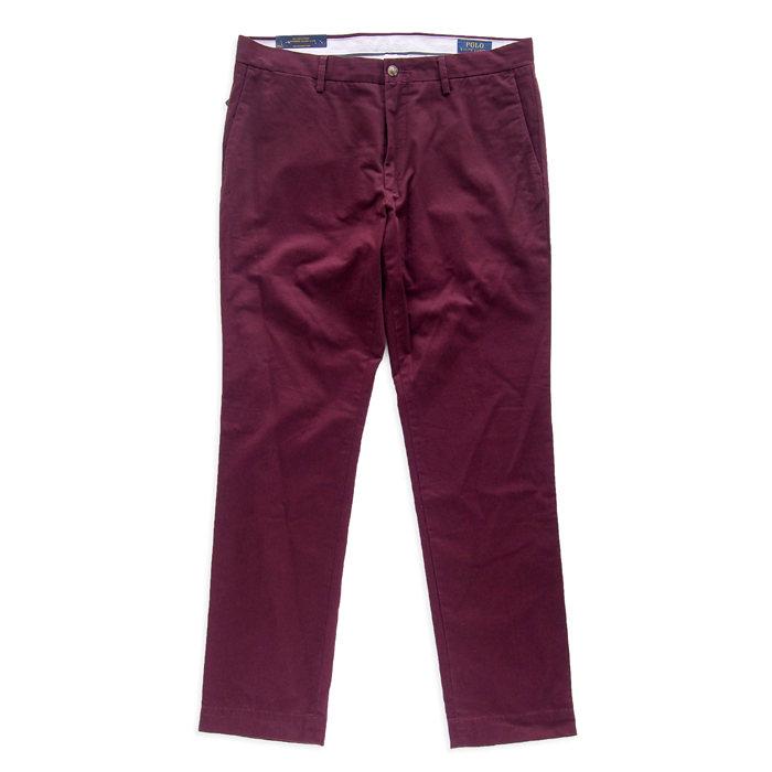 画像1: POLO RALPH LAUREN   stretch slim fit chino RED (34) (1)