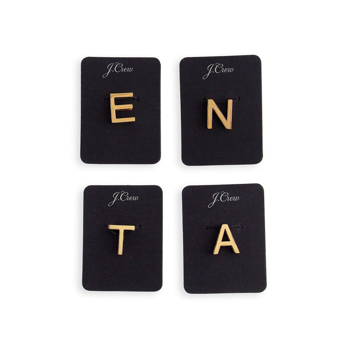 画像1: J.CREW WOMEN  metallic letter slide charms A / E / N / T (1)
