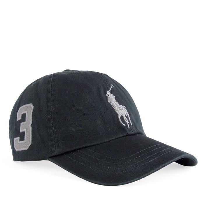 画像1: POLO RALPH LAUREN BOYS  signature big pony baseball cap BK  (1)