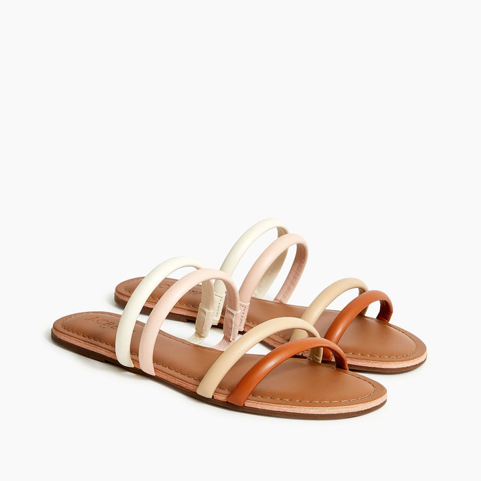 画像1: J.CREW WOMEN  strappy slide sandals in multi 23 / 24cm (1)