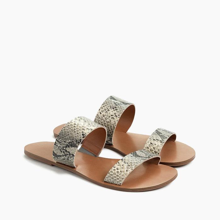 画像1: J.CREW WOMEN  snake-embossed easy summer slide sandals 23 / 24 / 25cm (1)