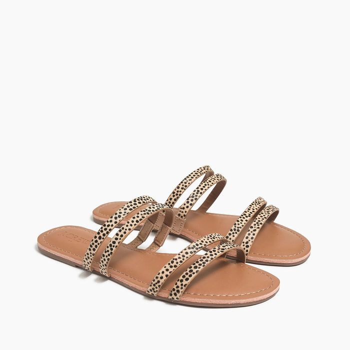 画像1: J.CREW WOMEN  calf hair seaside slide sandals 23cm (1)