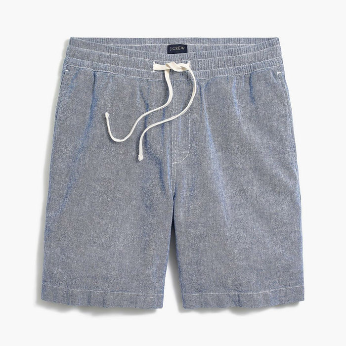 画像1: J.CREW   Linen-cotton pull-on short (1)