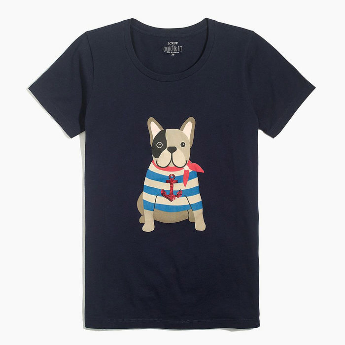 画像1: J.CREW WOMAN   Sailor dog graphic tee (M) (1)