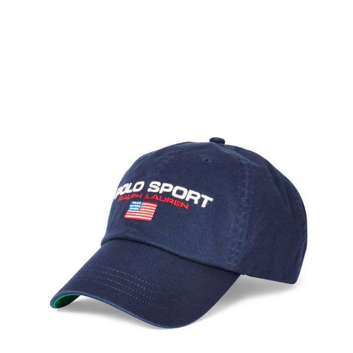 画像1: POLO RALPH LAUREN   Polo Sport Flag Cotton Chino Cap (1)