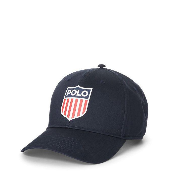 画像1: POLO RALPH LAUREN   Polo Shield Cotton Twill Cap  2color (1)