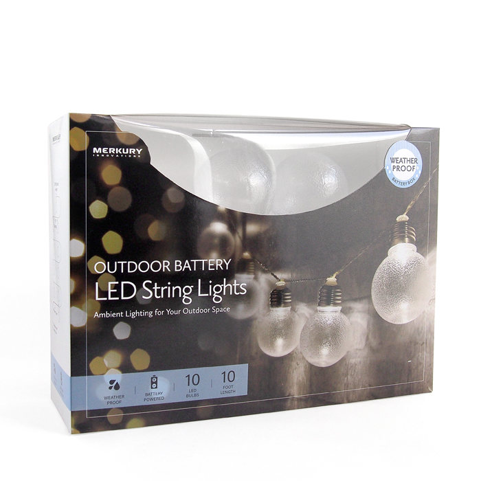 画像1: ETERNITY's SELECT  Merkury large frosted outdoor battery led string lights (1)