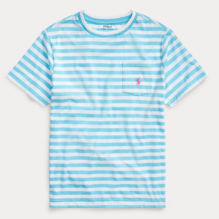 画像1: POLO RALPH LAUREN BOYS   Striped Cotton-Blend Tee  3color (1)