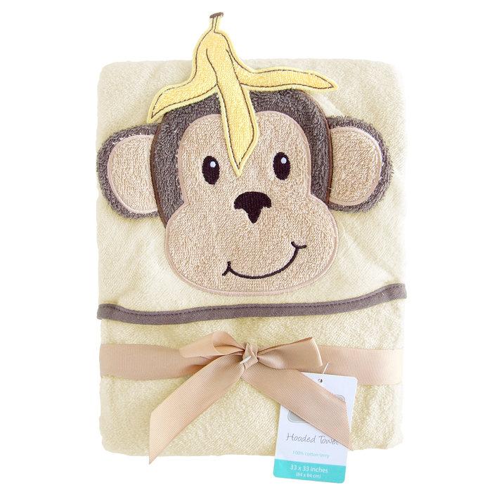 画像1: Hudson Baby  hooded towel MONKEY (1)