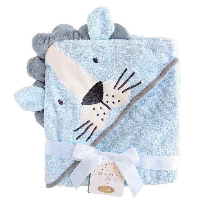 画像1: bon bebe  hooded towel LION (1)