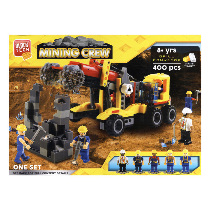 画像1: RMS International  BLOCK TECH mining crew vehicle set 400pieces (1)