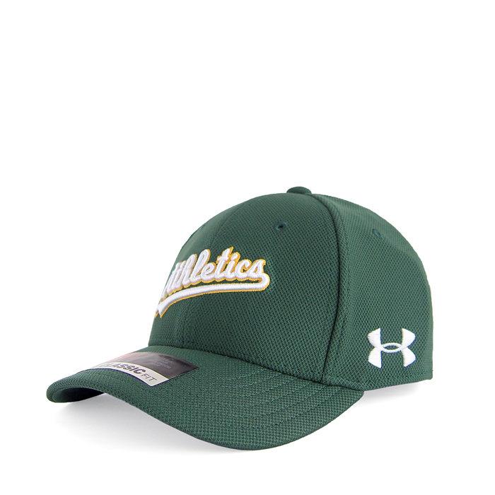 画像1: UNDER ARMOUR BOYS baseball cap MLB Oakland Athletics (XS-S) (1)