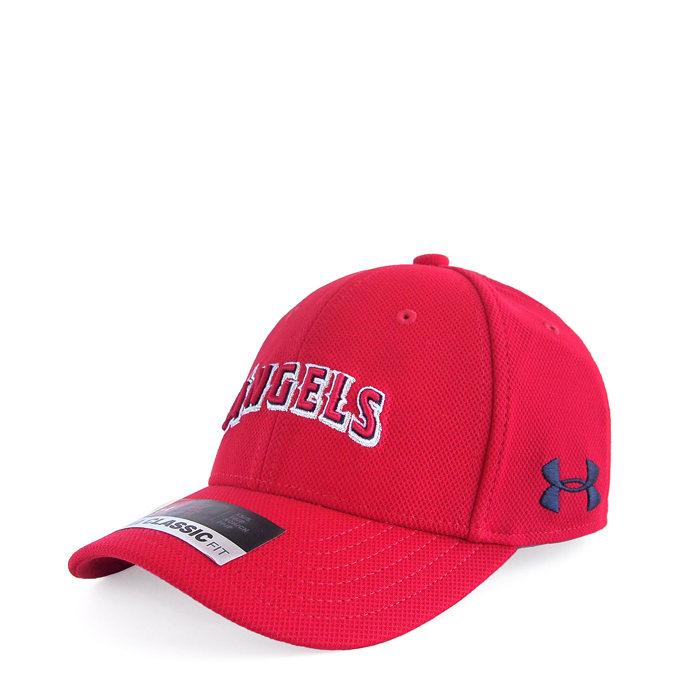 画像1: UNDER ARMOUR BOYS baseball cap MLB Los Angeles Angels (XS-S) (1)