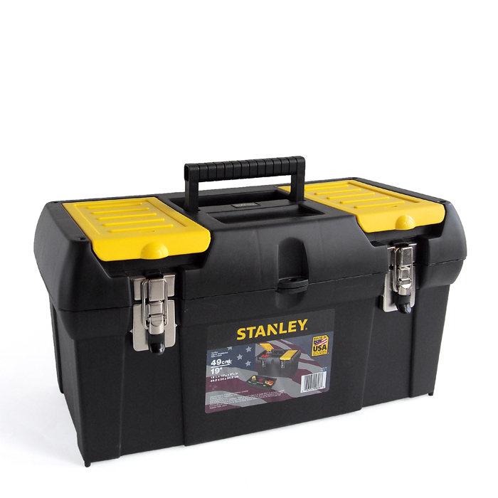 画像1: STANLEY  19 in. toolbox with tray (1)