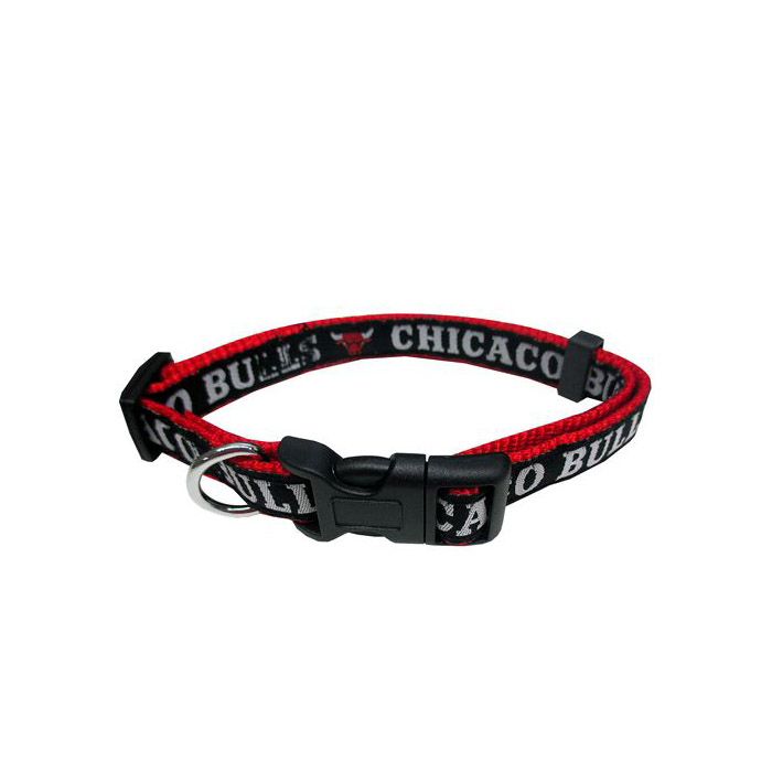 画像1: Pets First Company   Chicago Bulls Dog Collar  (1)