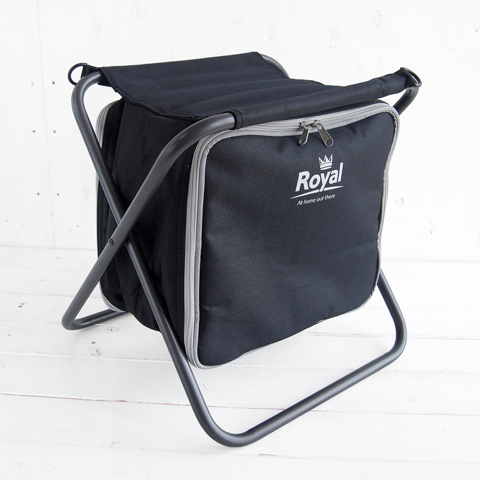 画像1: Royal   stool with 20L coolbag BLACK (1)