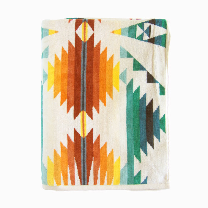 画像1: PENDLETON  jacquard beach towel FALCON COVE SUNSET (1)
