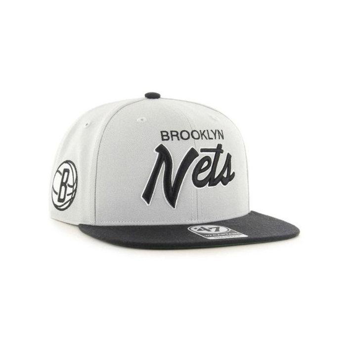 画像1: 47 BRAND   Brooklyn Nets Crosstown Script Two Tone '47 Captain Cap (1)