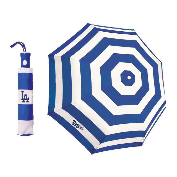 画像1: Los Angeles Dodgers   Cabana Stripe Folding Umbrella (1)