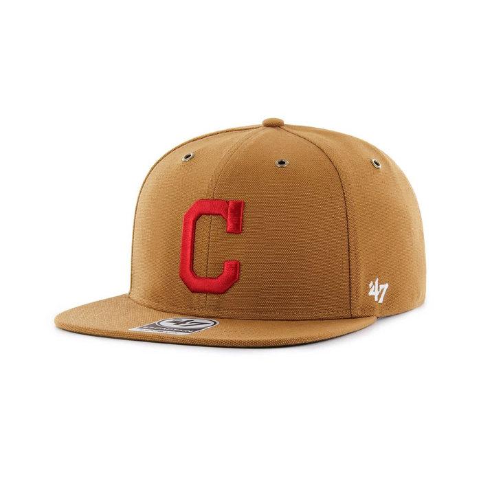 画像1: Carhartt × 47 BRAND   Cleveland Indians '47 Captain Cap (1)