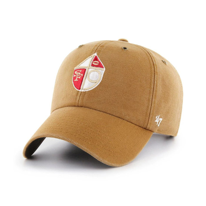 画像1: Carhartt × 47 BRAND   San Francisco 49ers Legacy  '47 Clean Up Cap (1)