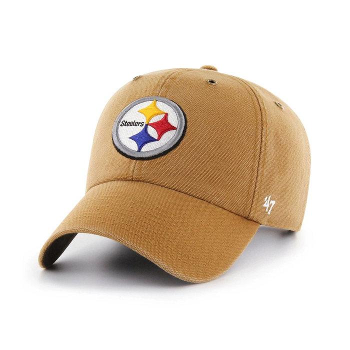 画像1: Carhartt × 47 BRAND   Pittsburgh Steelers '47 Clean Up Cap (1)