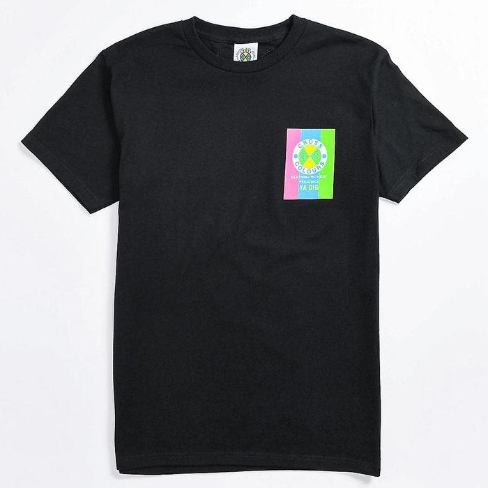 画像1: Cross Colours    Neon Flag Logo Tee (1)