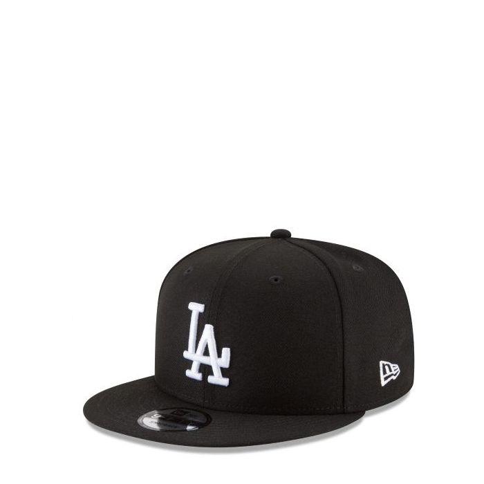 画像1: New Era   Los Angeles Dodgers Basic Black And White 9FIFTY Snapback (1)