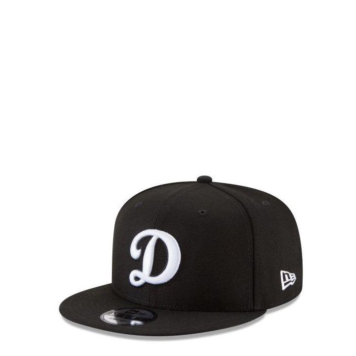 画像1: New Era   Los Angeles Dodgers Black And White 9FIFTY Snapback (1)