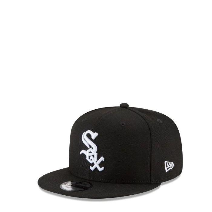 画像1: New Era   Chicago White Sox Black & White 9FIFTY Snapback (1)