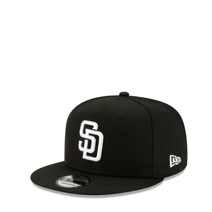 画像1: New Era   San Diego Padres Basic Black And White 9FIFTY Snapback (1)