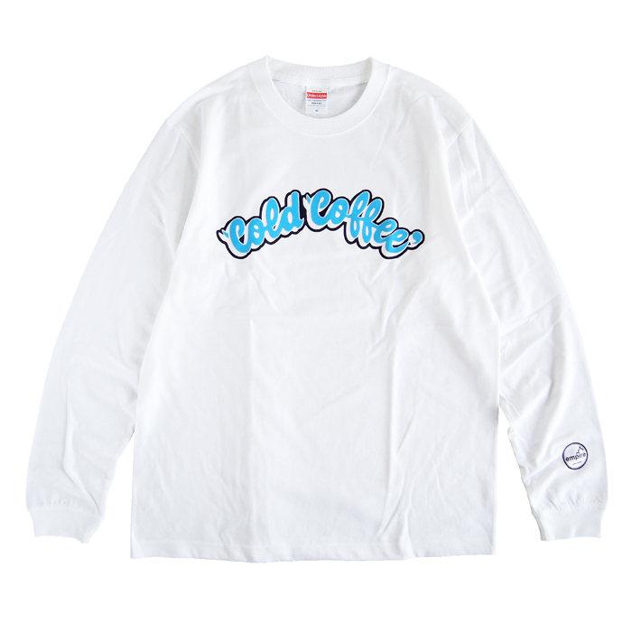 画像1: empire coffee stand  original long sleeve t-shirts Cold Coffee WHITE (1)