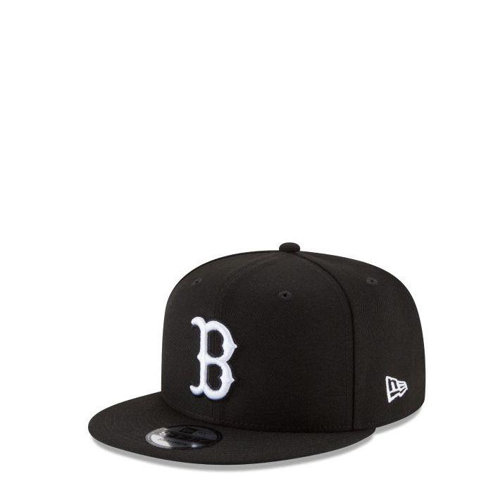 画像1: New Era   Boston Red Sox Black & White Basic 9FIFTY Snapback (1)