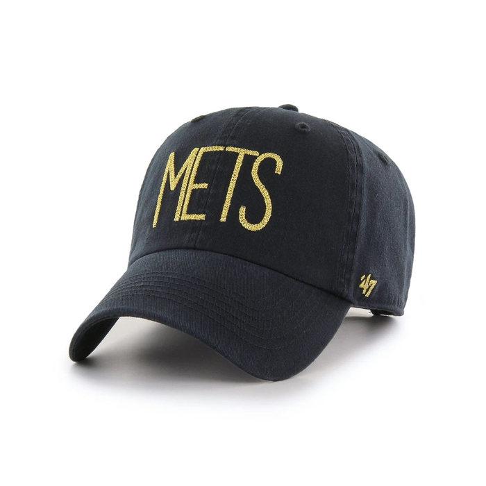 画像1: 47 BRAND WOMAN   NY Mets Shimmer Text '47 Clean Up Cap (1)