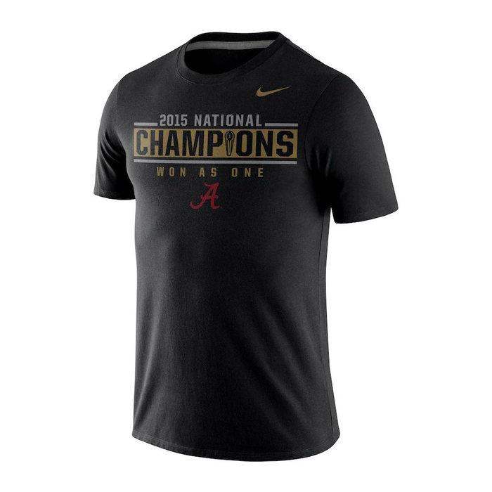 画像1: NIKE BOYS   College Football Alabama Crimson Tide Playoff 2015 National Champions Locker Room T-Shirt  (1)