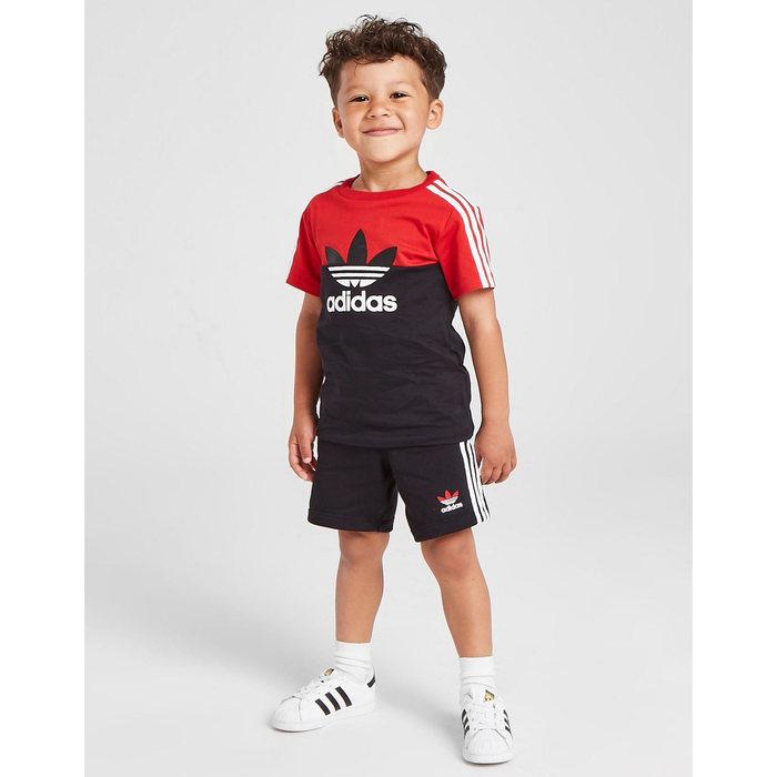 画像1: adidas Originals Kids   Sliced T-Shirt / Shorts Set (1)