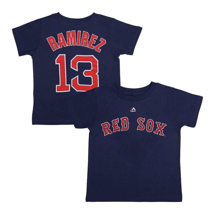 画像1: Majestic YOUTH   Boston Red Sox Hanley Ramirez Navy Name & Number T-Shirt (1)