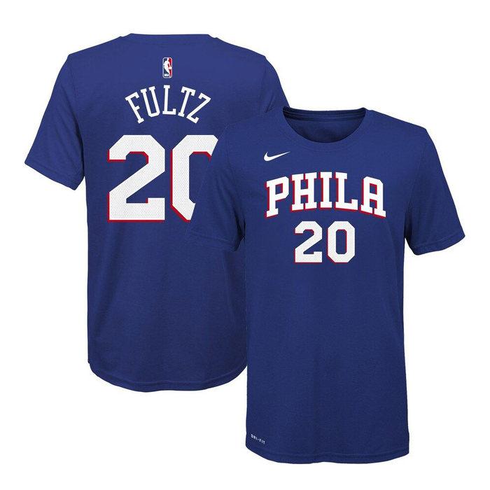 画像1: NIKE BOYS   Philadelphia 76ers Markelle Fultz Name & Number T-Shirt  (1)