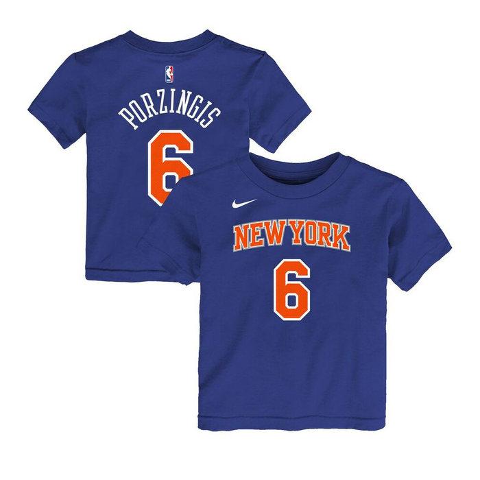画像1: NIKE KIDS   NY Knicks Kristaps Porzingis Name & Number T-Shirt (1)