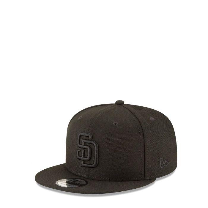 画像1: New Era  San Diego Padres Blackout 9FIFTY Snapback (1)